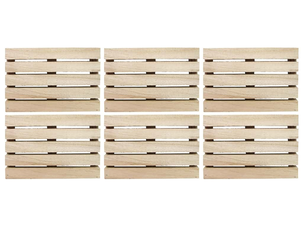 Wood Pallet Mini 4.75 in. Natural 6 pc