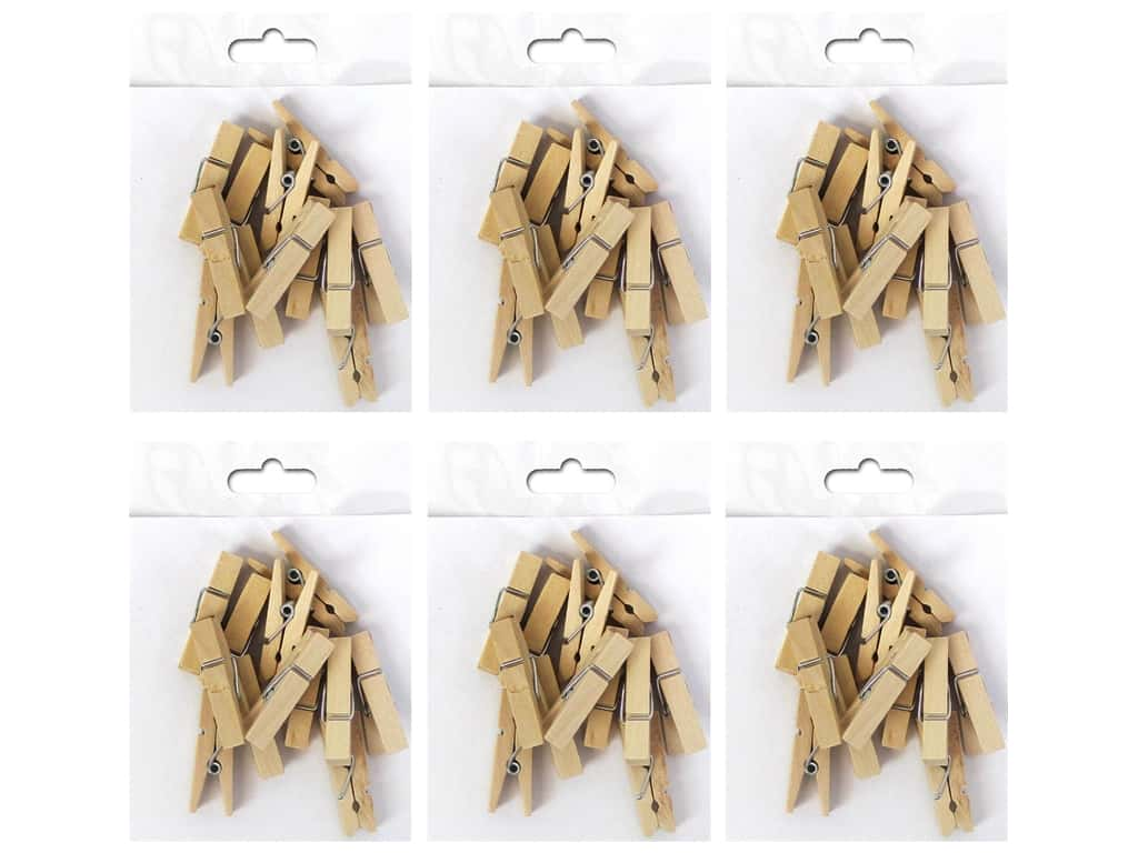 Sierra Pacific Crafts Clothespins 1 1/2 in. Natural 12 pc. (6 pack)