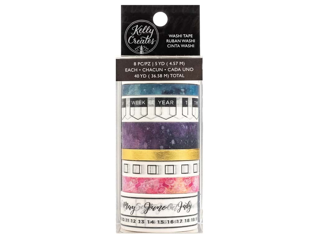 American Crafts Collection Kelly Creates Washi Tape Gold Foil Galaxy