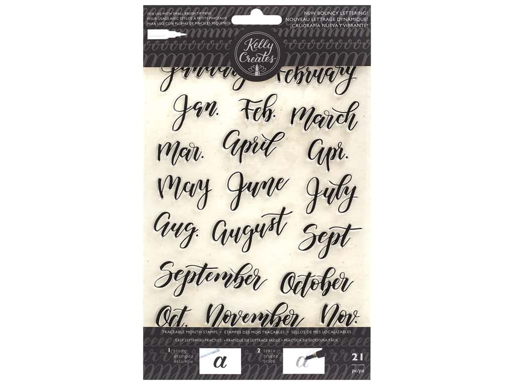 American Crafts Collection Kelly Creates Stamp Traceable Bouncy Months