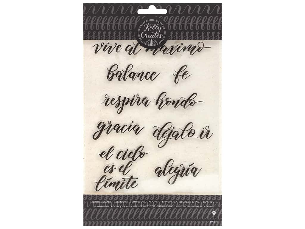 American Crafts Collection Kelly Creates Stamp Traceable Quotes 1 Spanish