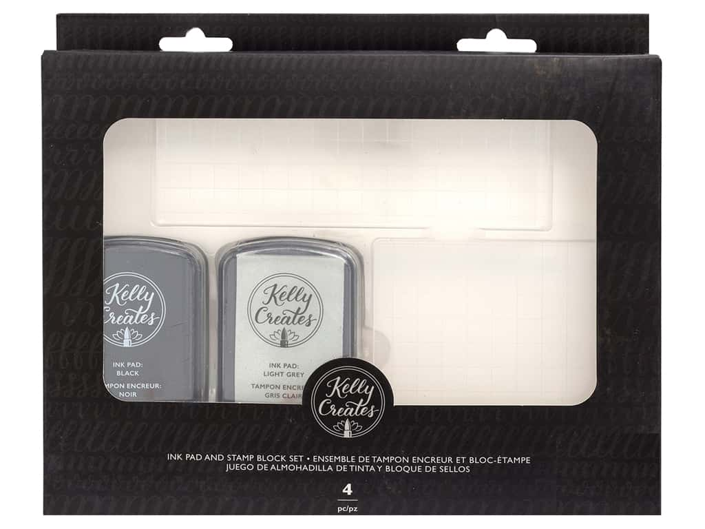 American Crafts Collection Kelly Creates Ink Pad & Stamp Block Set