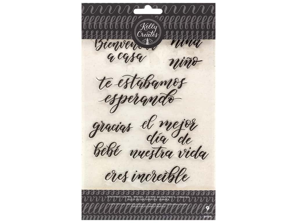 American Crafts Collection Kelly Creates Stamp Traceable Sentiments Spanish