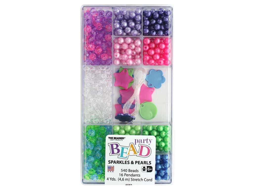 The Beadery Bead Party Box Sparkle & Pearl