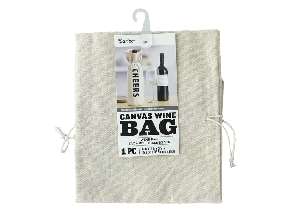 Darice Canvas Wine Bag