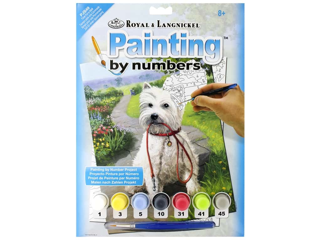 Royal Paint By Number Junior Small Time For A Walk