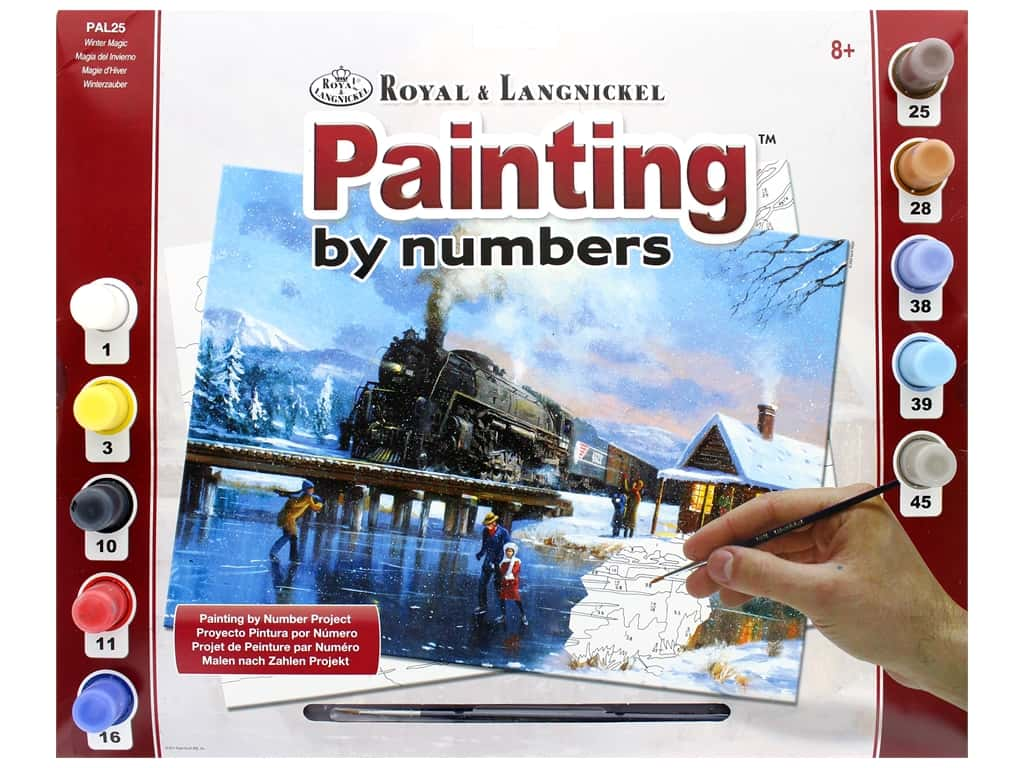 Royal Paint By Number Adult Large Winter Magic