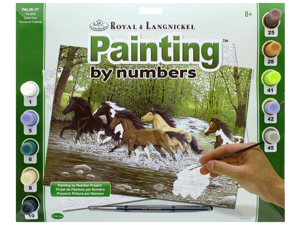 Royal Paint By Number Adult Large Free Spirits