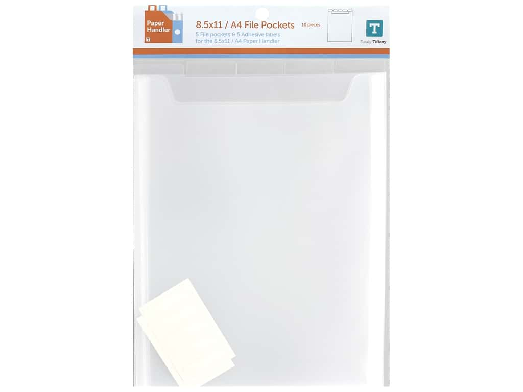 Totally Tiffany Paper Handler A4 With Pockets