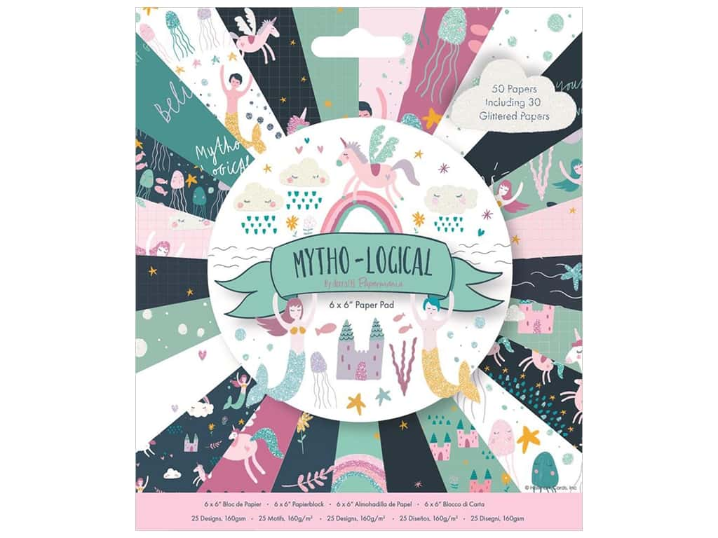 """Docrafts Papermania Paper Pad 6""""x 6"""" Mytho-Logical"""