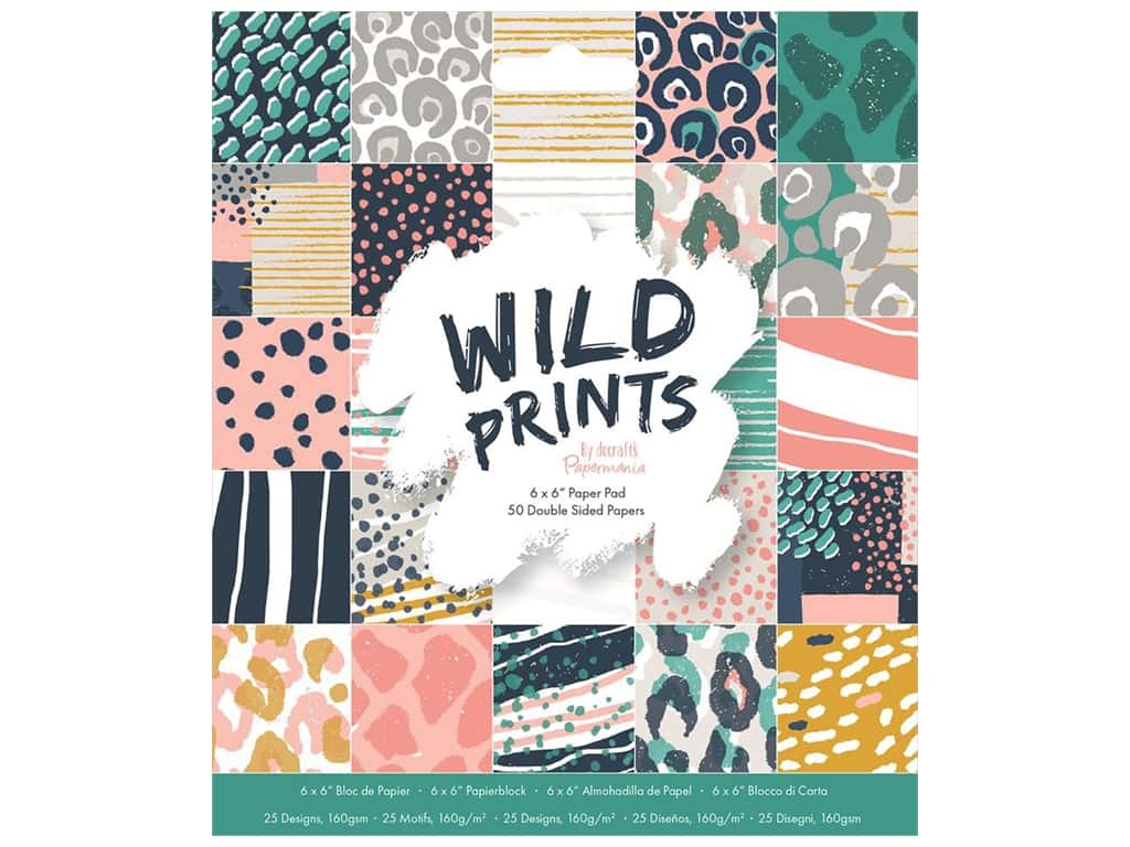 "Docrafts Papermania Paper Pad 6""x 6"" Wild Prints"