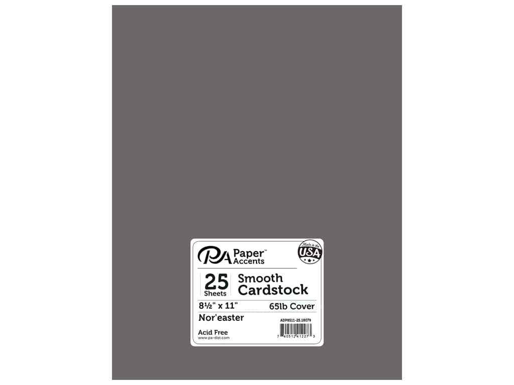 Paper Accents Cardstock 8 1/2 x 11 in. #18079 Smooth Nor'easter 25 pc.