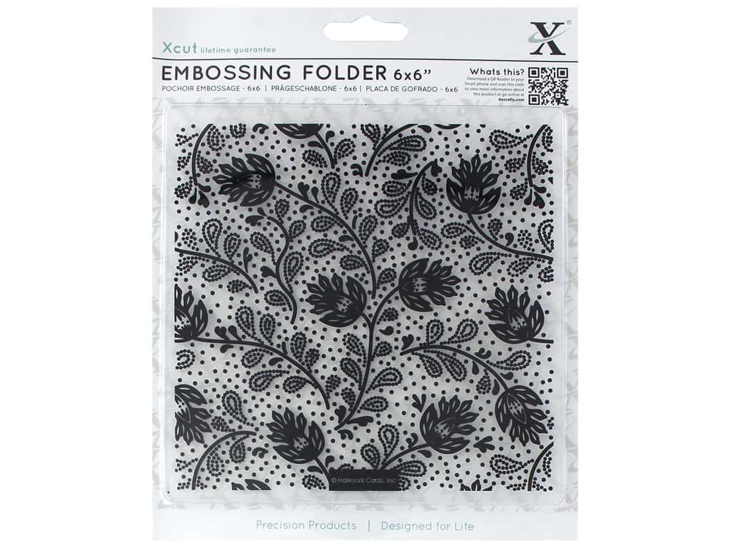 "Docrafts Xcut Embossing Folders 6""x 6"" Abstract Thistle"