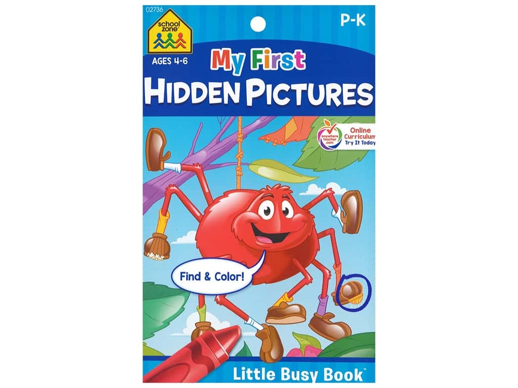 School Zone Little Busy Book My First Hidden Pictures Book