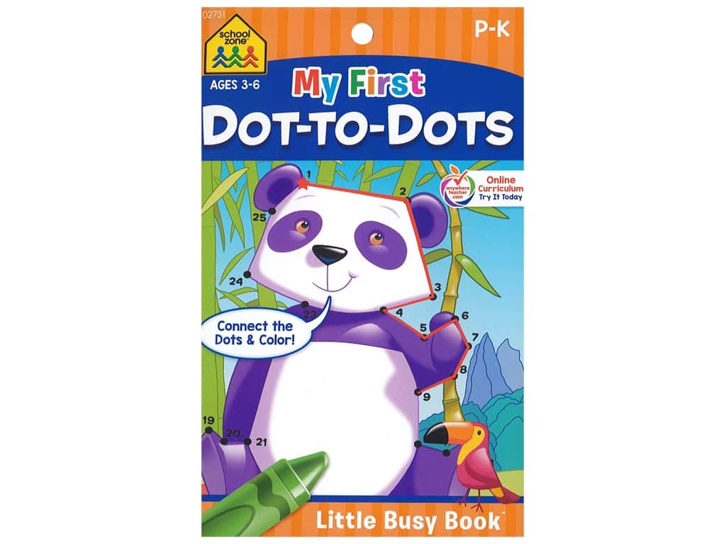 School Zone Little Busy Book My First Dot To Dots Book