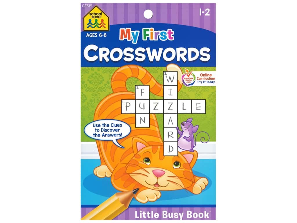 School Zone Little Busy Book My First Crosswords Book