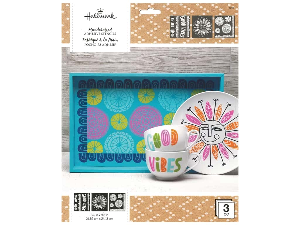 Plaid Hallmark Handcrafted Adhesive Stencils Design Pack - Doodle