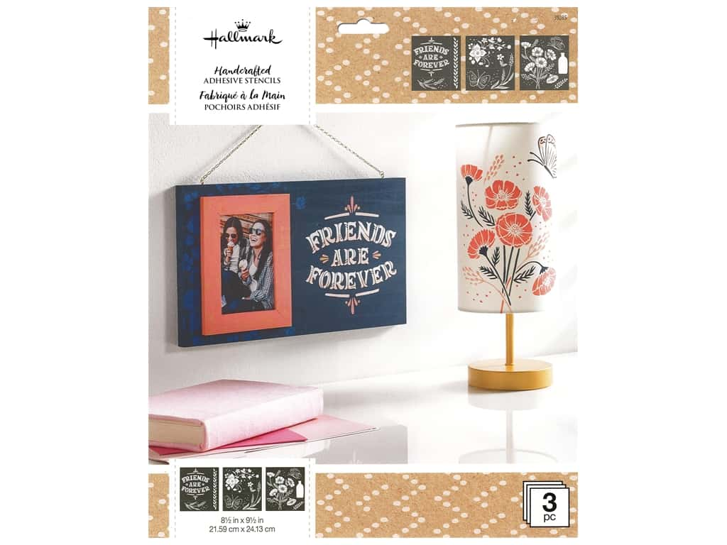 Plaid Stencil Folkart Hallmark Adhesive 8.5 in. x 9.5 in. Design Pack Enchanting