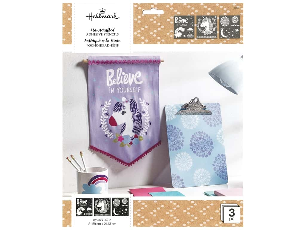 Plaid Hallmark Handcrafted Adhesive Stencils Design Pack - Little Princess