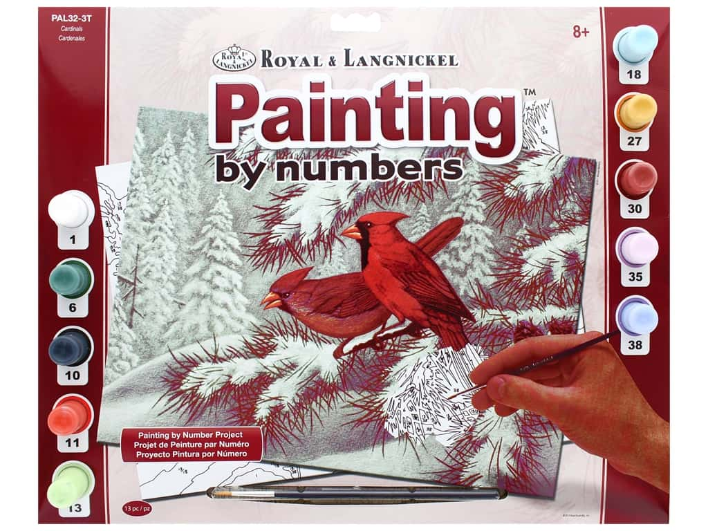 Royal Paint By Number Kit Large Cardinals