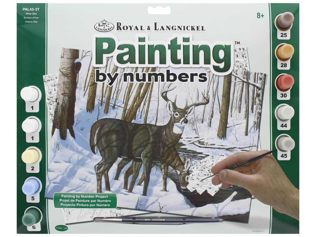 Royal Paint By Number Kit Large Winter Bliss