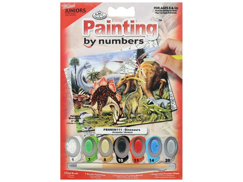 Royal Paint By Number Kit Mini Dinosaurs