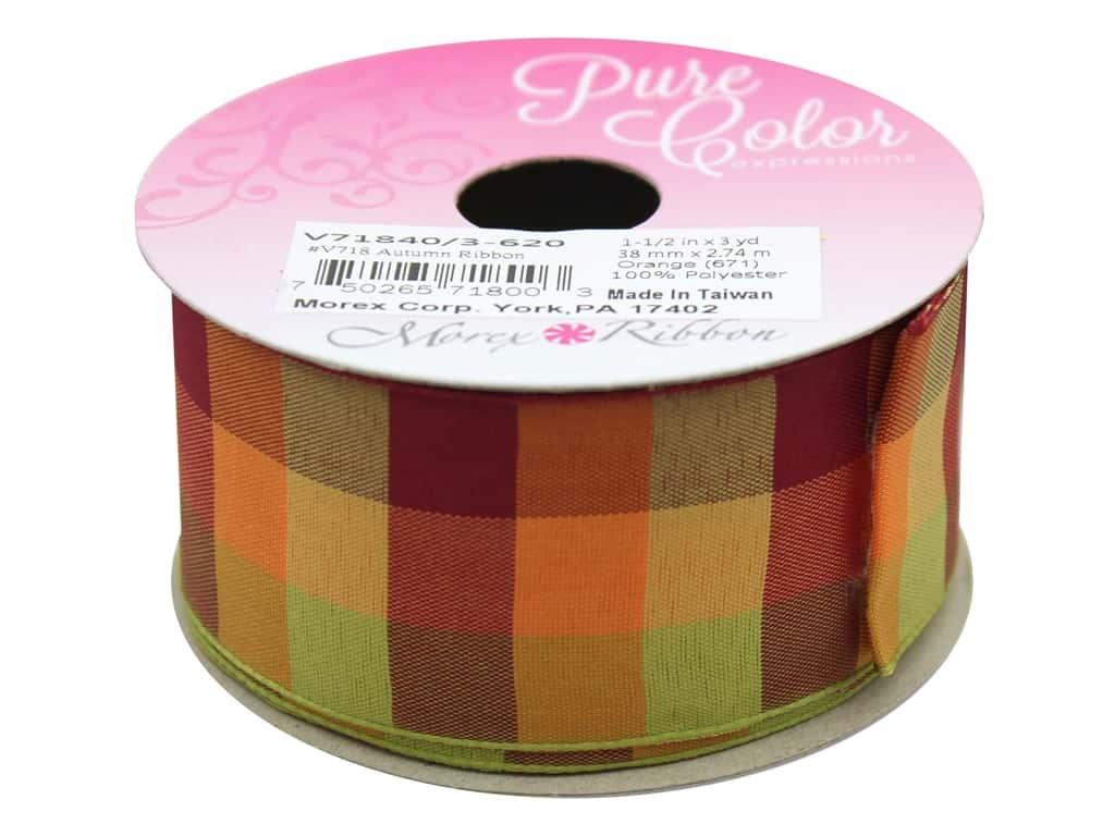 "Morex Ribbon Autumn 1.5""x 3yd Orange"