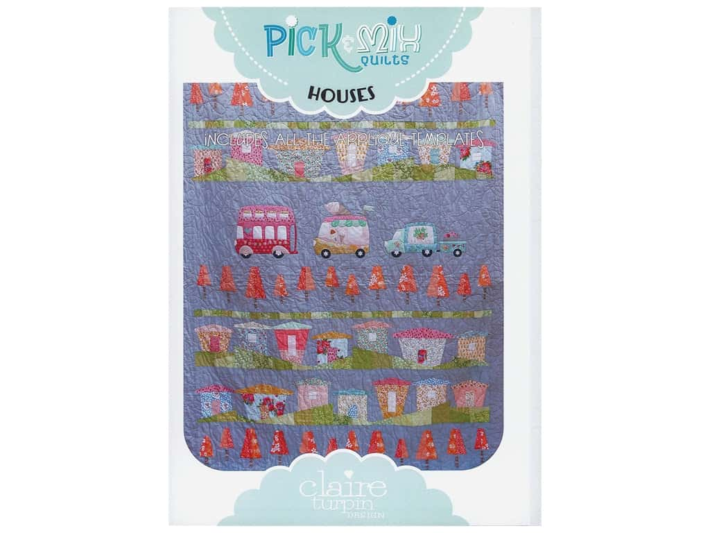Claire Turpin Design Pick & Mix Quilts Template & Houses Pattern