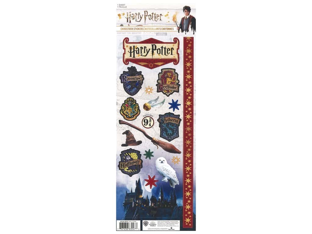 Paper House Collection Life Organized Sticker Cardstock Warner Brothers Harry Potter