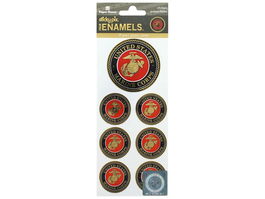 Paper House Sticker Sticker Enamel Faux US Marines