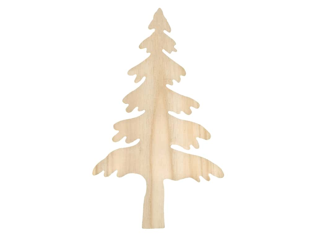 """Sierra Pacific Crafts Wood Cut Out Tree Large 8""""x 13"""" Unfinished"""