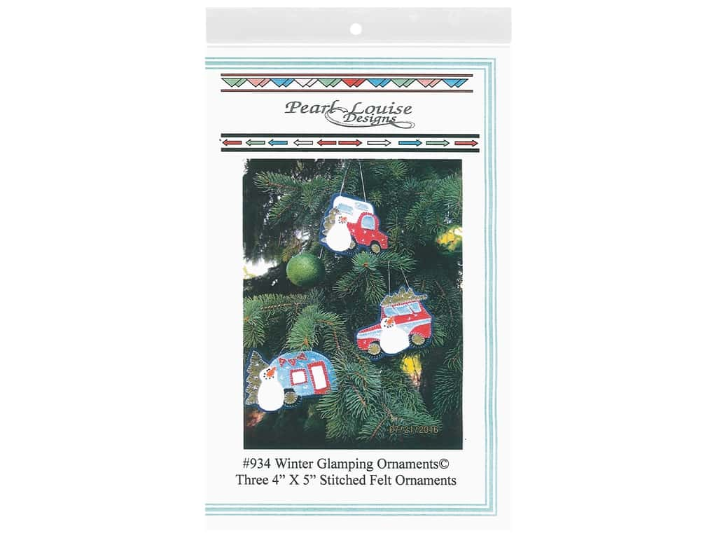 Pearl Louise Designs Patterns - Winter Glamping Ornaments