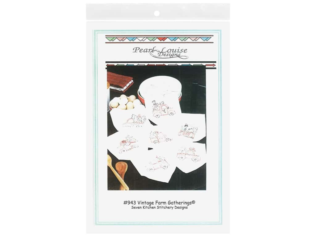 Pearl Louise Designs Vintage Farm Gatherings Embroidery Pattern
