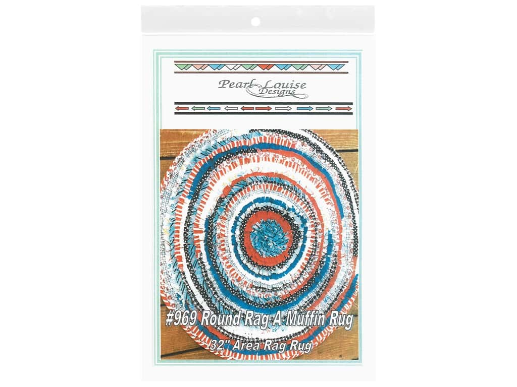 Pearl Louise Designs Round Rag A Muffin Rug Pattern