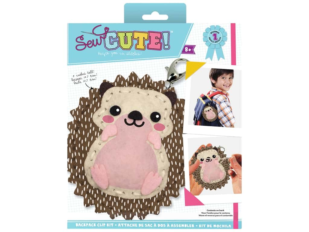 Colorbok Kit Sew Cute Backpack Clip Hedgehog