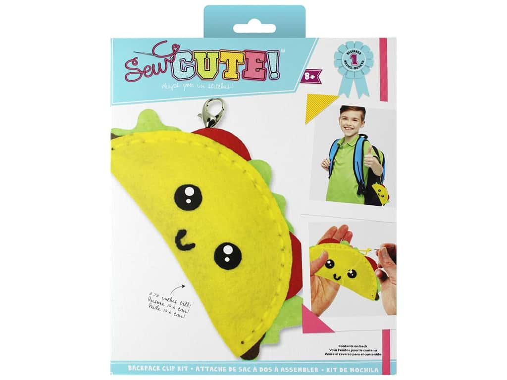 Colorbok Sew Cute! Backpack Clip Kit - Taco