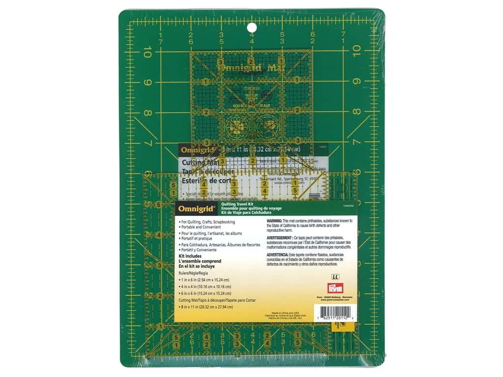 Omnigrid Mat & Ruler Travel Kit
