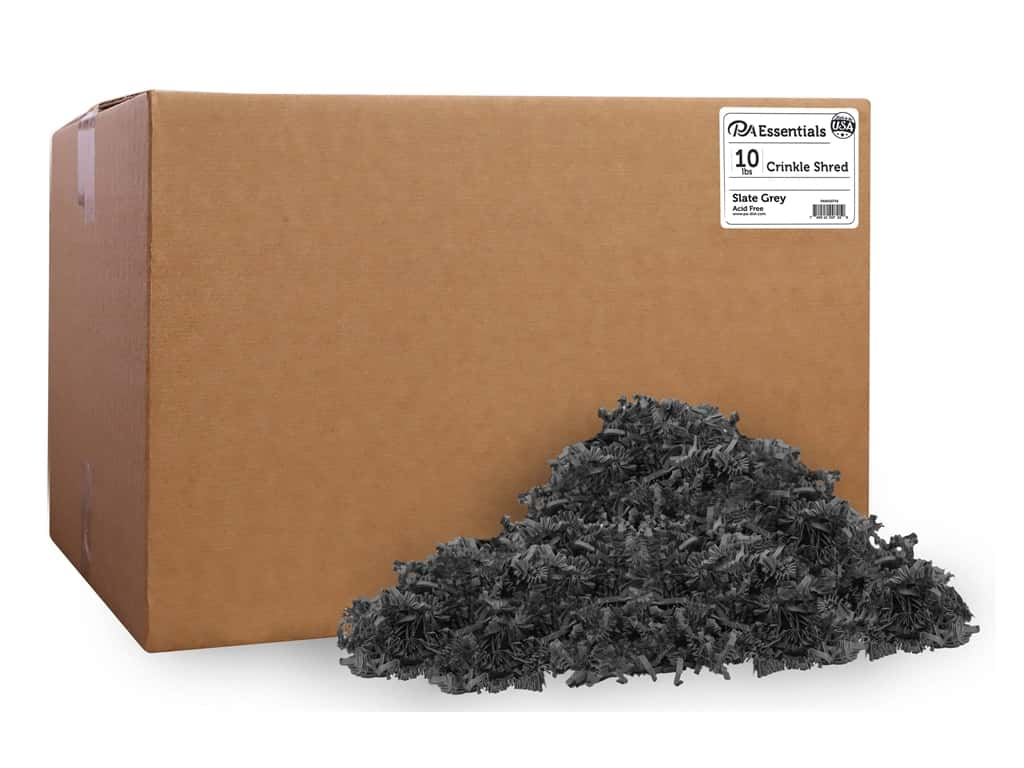 PA Essentials Crinkle Shred 10 lb. Slate Gray