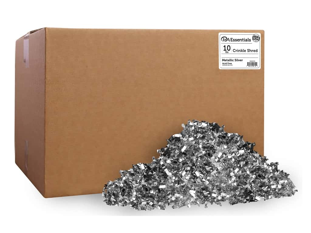 PA Essentials Crinkle Shred 10 lb. Metallic Silver
