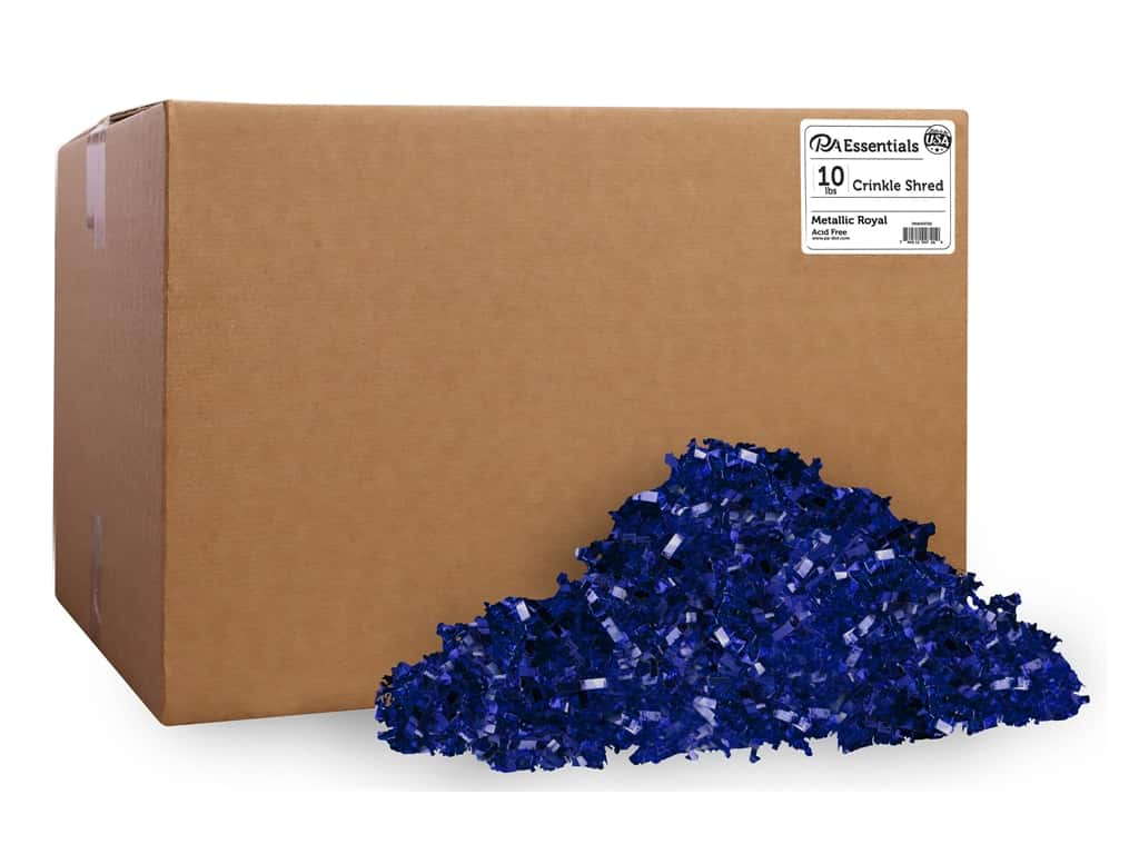 PA Essentials Crinkle Shred 10 lb. Metallic Royal