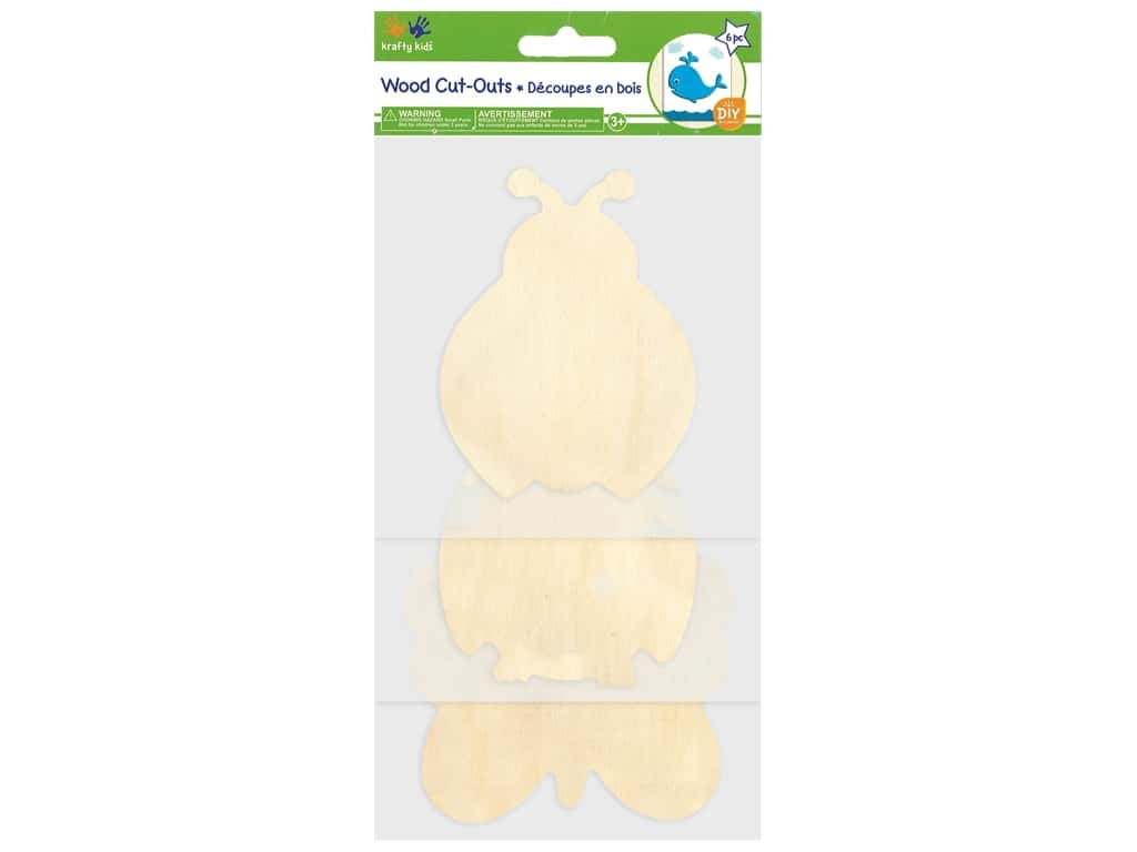 Multicraft Wood Cut Out Flying Friend 6 pc