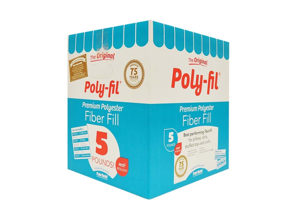 Fairfield Fiber Poly Fil Box 5 lb