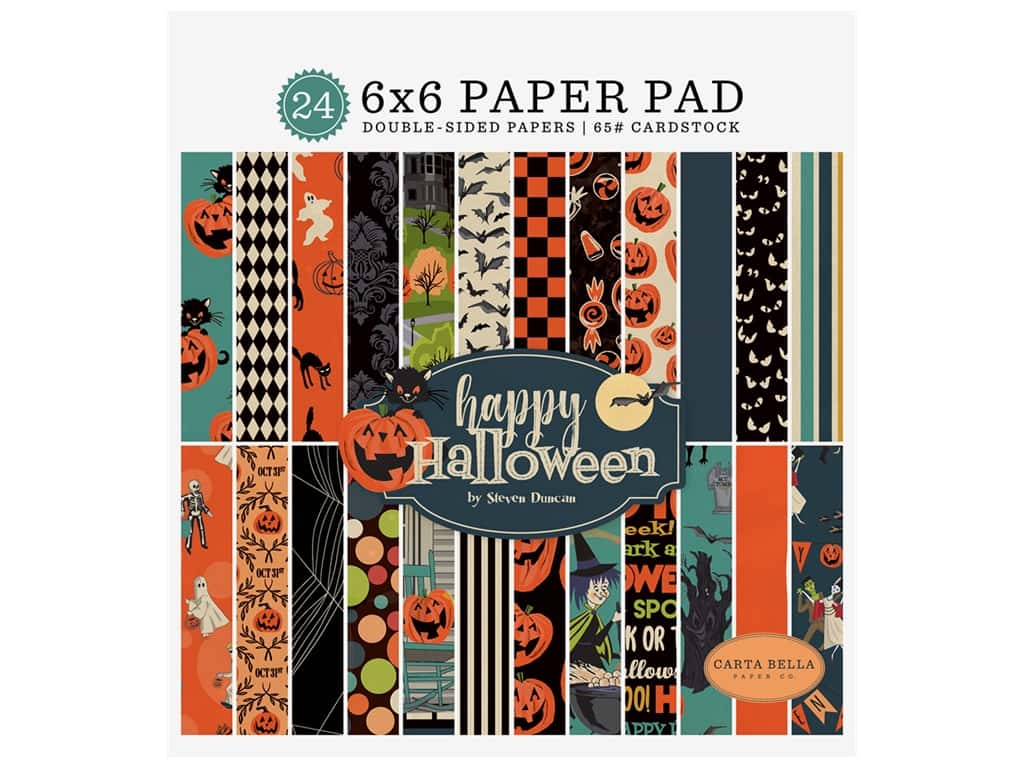 "Carta Bella Collection Happy Halloween Paper Pad 6""x 6"""