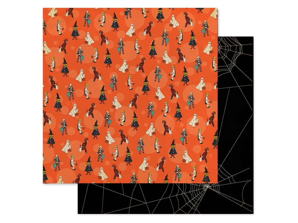"Carta Bella Collection Happy Halloween Paper 12""x 12"" Trick Or Treaters (25 pieces)"
