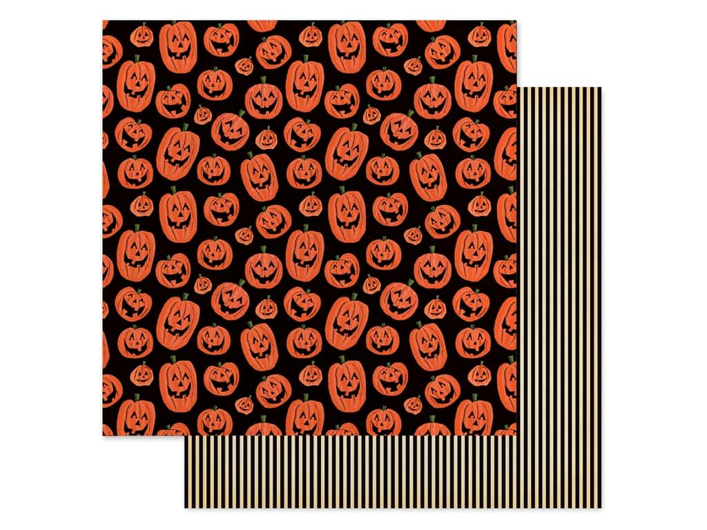"Carta Bella Collection Happy Halloween Paper 12""x 12"" Laughing Pumpkins (25 pieces)"