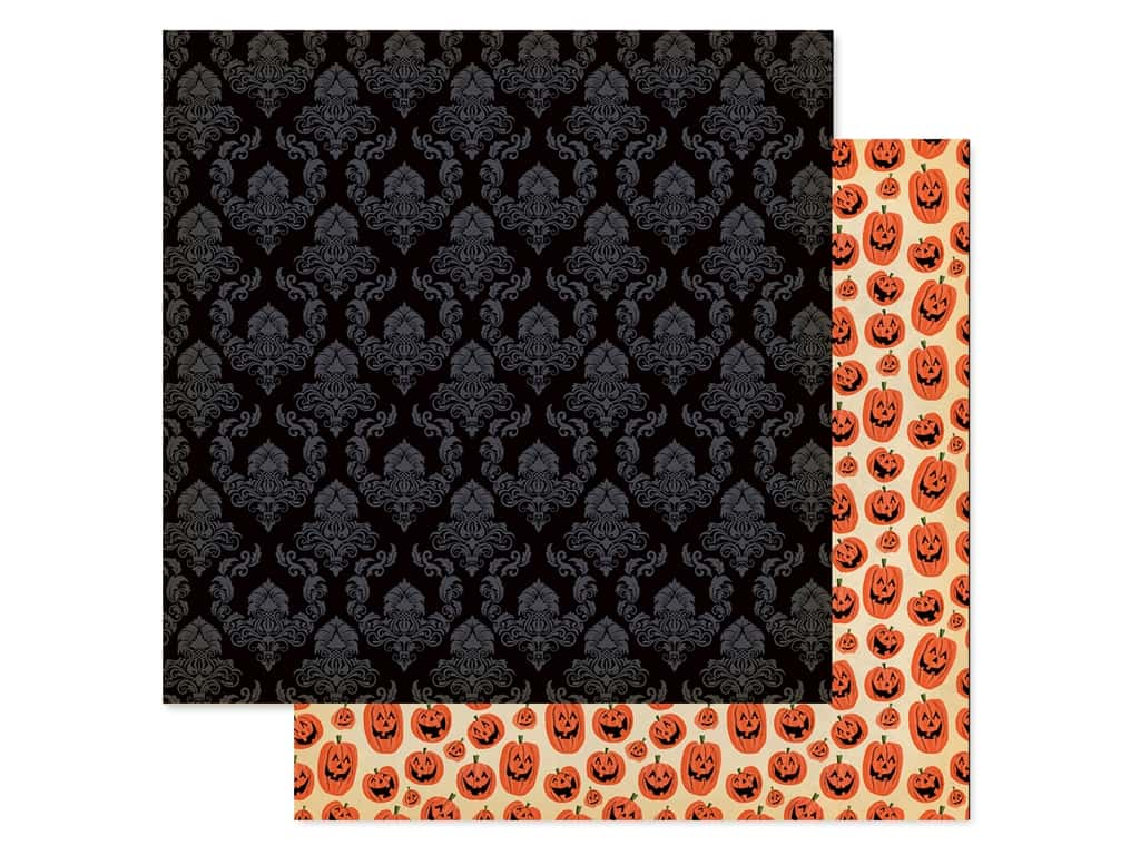 "Carta Bella Collection Happy Halloween Paper 12""x 12"" Ghostly (25 pieces)"