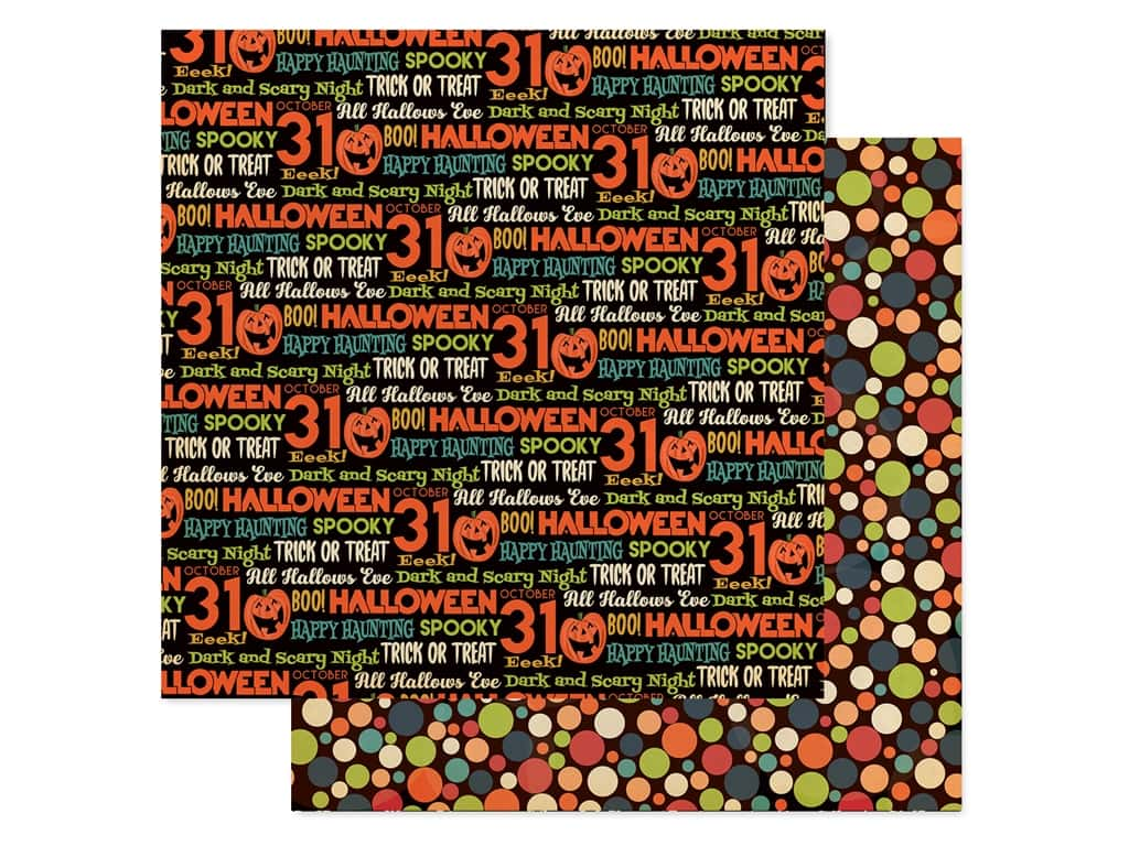 """Carta Bella Collection Happy Halloween Paper 12""""x 12"""" Hallows Eve (25 pieces)"""