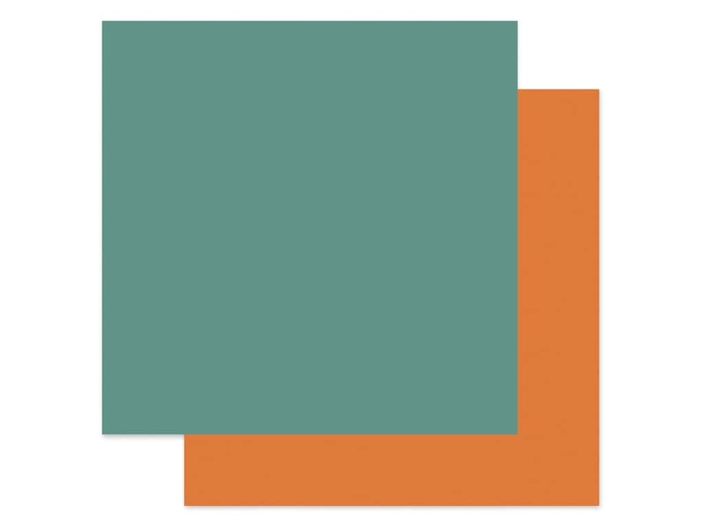 "Carta Bella Collection Happy Halloween Paper 12""x 12"" Teal/Light Orange (25 pieces)"
