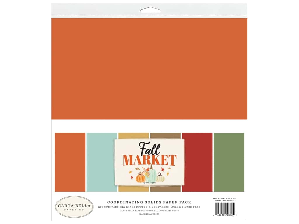 """Carta Bella Collection Fall Market Solid Kit 12""""x 12"""""""