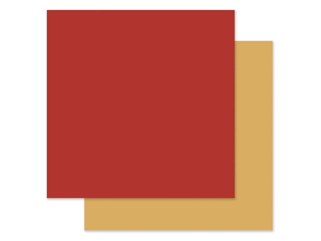 "Carta Bella Collection Fall Market Paper 12""x 12"" Red/Yellow (25 pieces)"